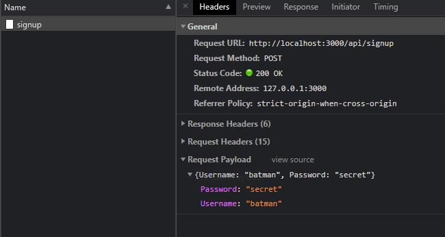 SignUp API.
